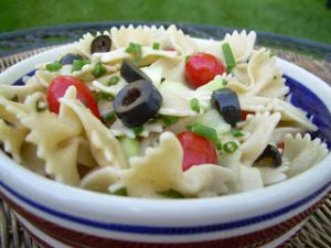 Healthy Pasta Salad (Video)