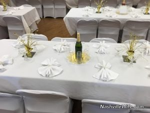 DIY New Year's Eve Wedding Reception