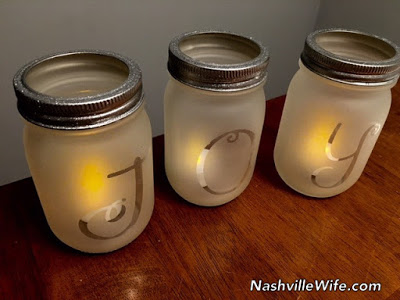 homemade mason jar Christmas lanterns