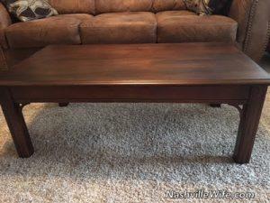 Refinishing Furniture: Coffee Table