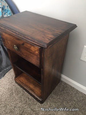 Refinished nightstand