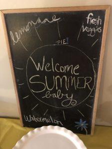 Summer baby shower