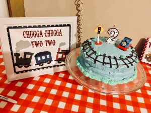 choo choo I'm two children's birthday party
