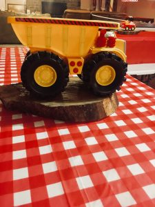 themed birthday party trucks and trains
