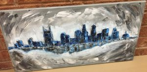 Nashville Skyline Painting