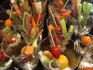 veggie kebobs in a cup