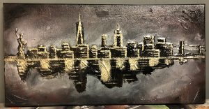 New York Skyline painting