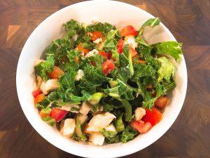 tomato basil kale salad