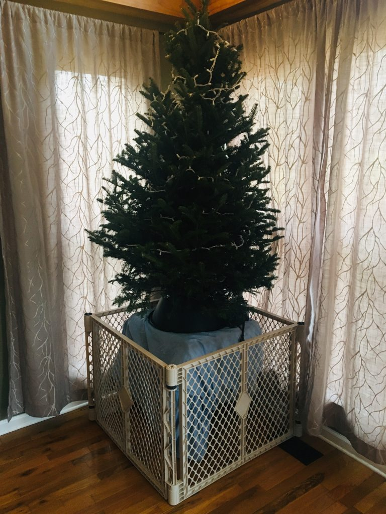 Baby proof Christmas tree
